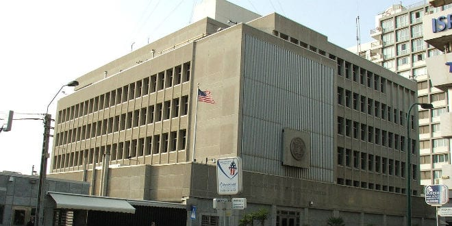 The U.S. Embassy in Tel Aviv (Photo: Wiki Commons)