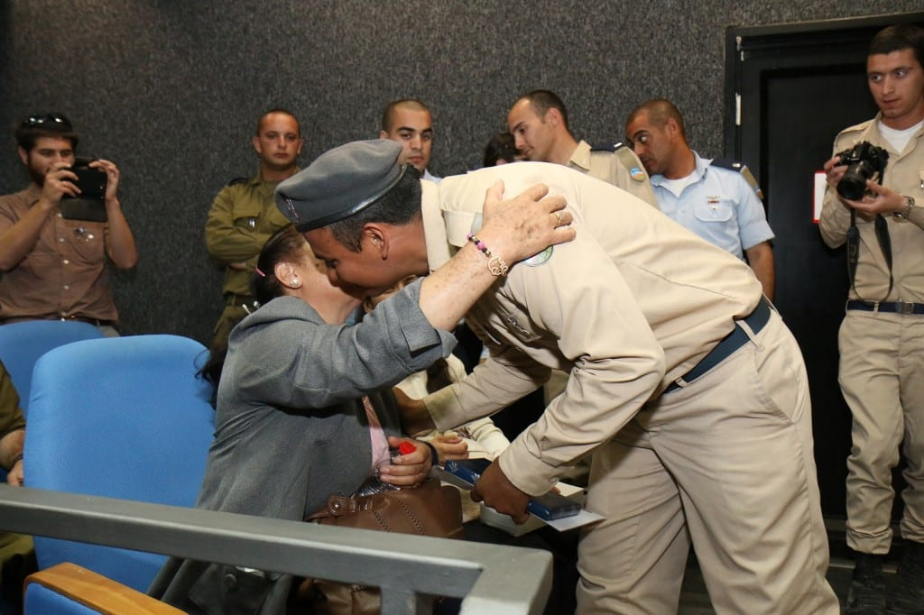 Diego reuniting with his mother. (Photo: Hillel Maeir)