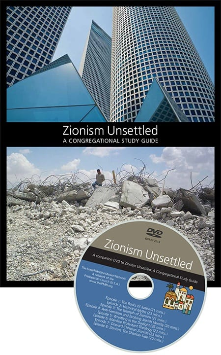 """The cover of the """"Zionism Unsettled"""" study guide and its companion DVD. (Photo: Israel Palestine Mission Network)"""