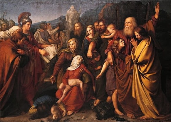 "The painting ""Maccabees,"" by Wojciech Stattler (1800–1875)"