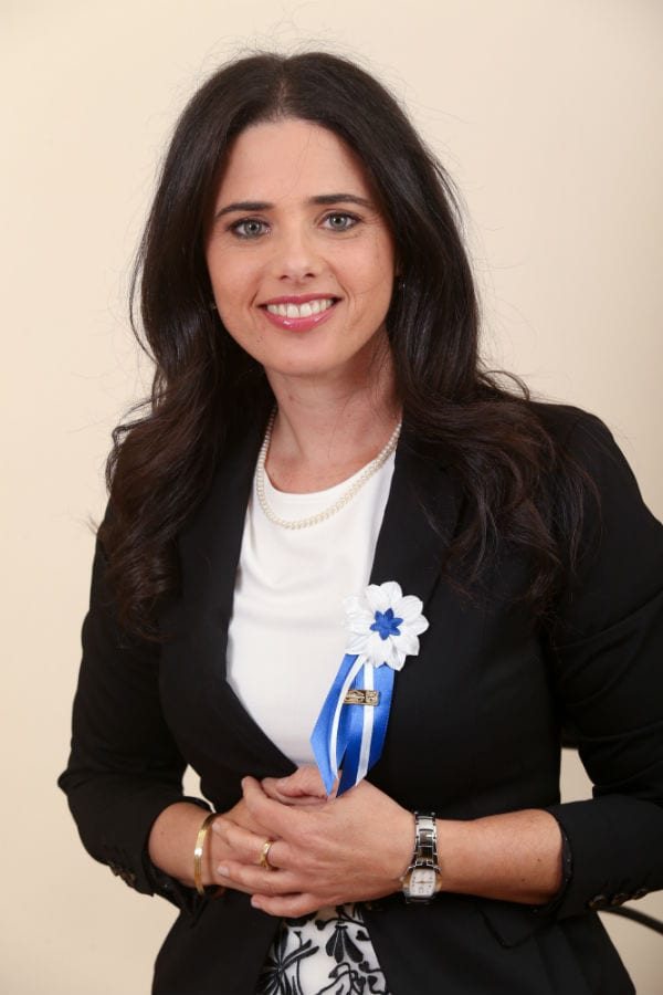 MK Ayelet Shaked of the Jewish Home party. (Photo: Nati Shohat/Flash90)