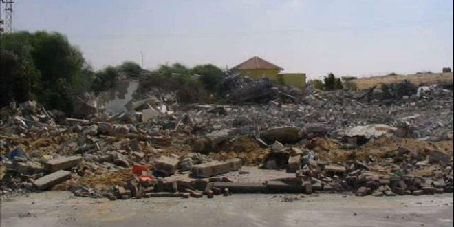 What is left of the Nagar home, seen here in August 2005, post Israel's disengagement from the Gaza Strip. (Photo: YouTube Screenshot)