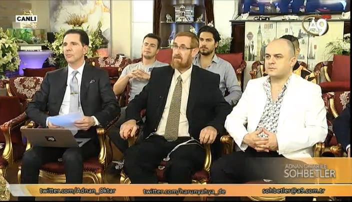 Rabbi Yehuda Glick's live conversation with Mr. Adnan Oktar from A9 TV. (Photo: Screenshot)
