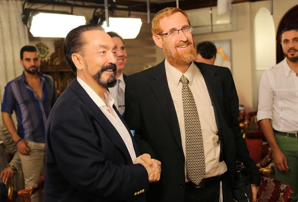 Adnan Oktar and Rabbi Yehuda Glick (Photo: Courtesy)