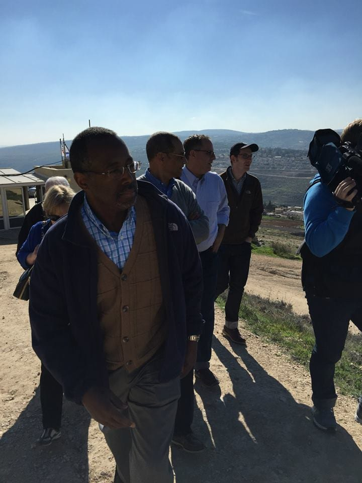 Dr. Ben Carson visits Herodion (the Judean palace of King Herod) in Gush Etzion, Israel. (Photo: Official Facebook Page of Ben Carson)