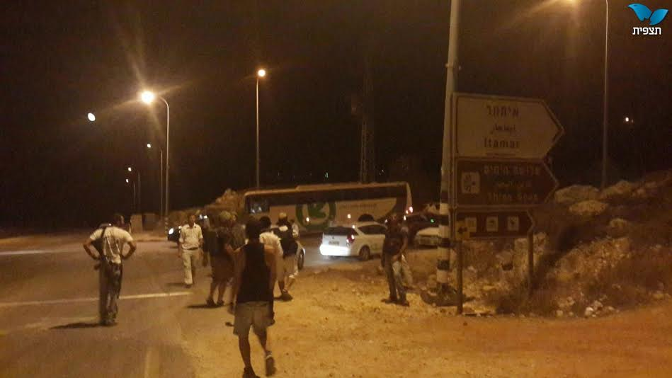 Scene of the terror attack that claimed the lives of Eitam and Naama Henkin. (Photo: Ehud Amiton/ Tazpit News Agency)