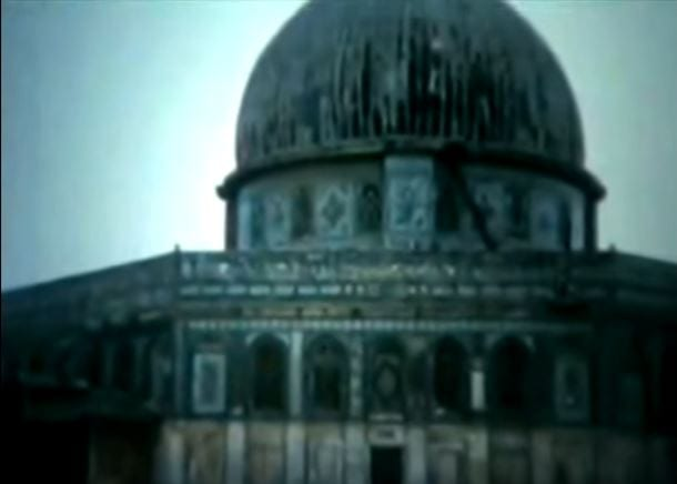 A photo of the Dome of the Rock in 1954 (Photo: Youtube screenshot)