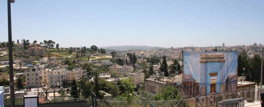 View overlooking Mt. Moriah, the location of the Temple Mount. (Adam Prop/Courtesy)