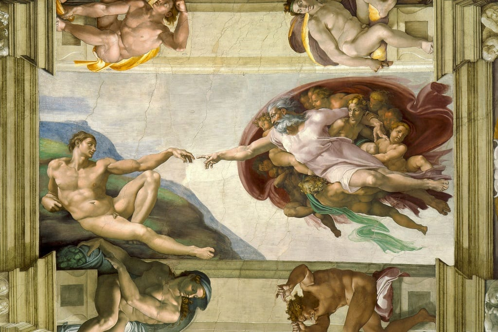 The Creation of Adam by Michelangelo. (Photo: Public Domain)