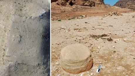 Satellite and drone images led to the discovery of this massive man-made stone platform which was hidden under sand. (Photo: Facebook)