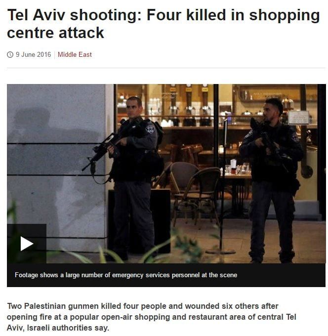The BBC's coverage of the shooing. (Web screenshot)
