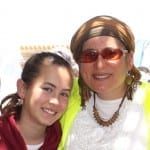 Hallel Yaffa Ariel, 13, and her mother before Hallel was murdered by a terrorist. (Courtesy Hebron Fund)