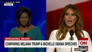 Media outlets pointed out the similarities between the speeches of Michelle Obama and Melanie Trump.