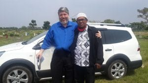 Rabbi Tovia Singer with Zawawi Suat, Secretary General of the Indonesian Association of Islamic Emissary, an organization with approximately 40 million members. (Courtesy)