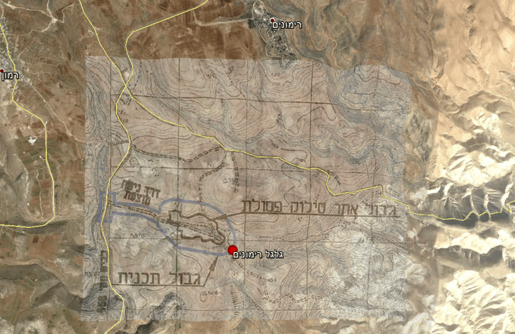 The location of the endangered Gilgal site. (Google Maps(=)