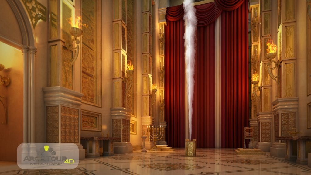 The incense offering at the altar of the Second Temple. (Courtesy)