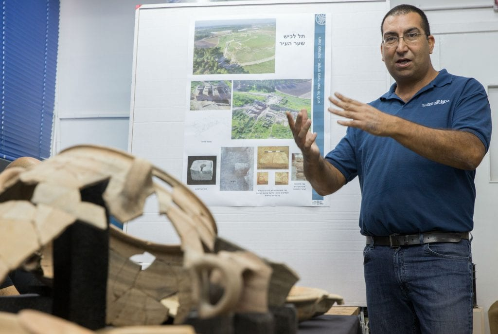 Sa'ar Ganor, an archaeologist for the Israel Antiquities Authority (Hillel Maeir/TPS)